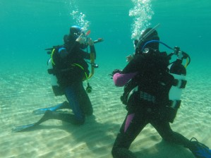 PADI - Open Water - divers kneeling